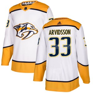 Men's Nashville Predators Viktor Arvidsson Adidas Authentic Away Jersey - White