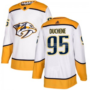 Men's Nashville Predators Matt Duchene Adidas Authentic Away Jersey - White