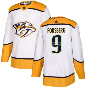 Men's Nashville Predators Filip Forsberg Adidas Authentic Away Jersey - White