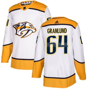 Men's Nashville Predators Mikael Granlund Adidas Authentic Away Jersey - White