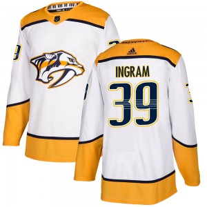 Men's Nashville Predators Connor Ingram Adidas Authentic ized Away Jersey - White