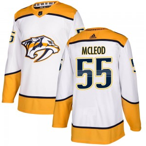 Men's Nashville Predators Cody Mcleod Adidas Authentic Cody McLeod Away Jersey - White
