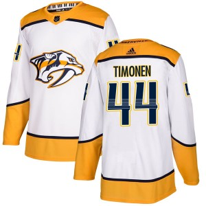 Men's Nashville Predators Kimmo Timonen Adidas Authentic Away Jersey - White