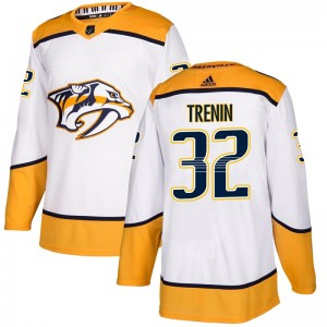 Men's Nashville Predators Yakov Trenin Adidas Authentic Away Jersey - White