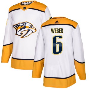 Men's Nashville Predators Shea Weber Adidas Authentic Away Jersey - White
