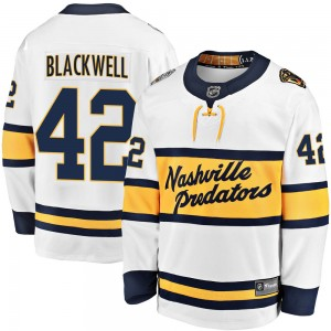 Men's Nashville Predators Colin Blackwell Fanatics Branded 2020 Winter Classic Breakaway Jersey - White