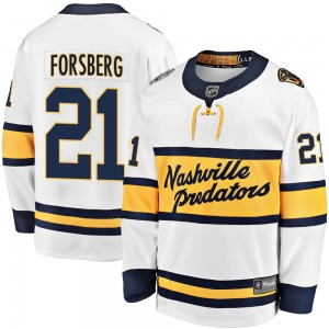 Men's Nashville Predators Peter Forsberg Fanatics Branded 2020 Winter Classic Breakaway Jersey - White