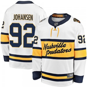 Men's Nashville Predators Ryan Johansen Fanatics Branded 2020 Winter Classic Breakaway Jersey - White