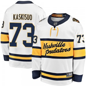 Men's Nashville Predators Kasimir Kaskisuo Fanatics Branded 2020 Winter Classic Breakaway Player Jersey - White