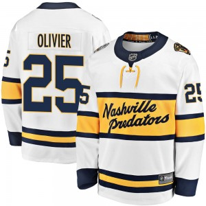 Men's Nashville Predators Mathieu Olivier Fanatics Branded 2020 Winter Classic Breakaway Player Jersey - White