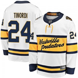 Men's Nashville Predators Jarred Tinordi Fanatics Branded 2020 Winter Classic Breakaway Jersey - White
