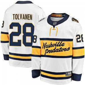 Men's Nashville Predators Eeli Tolvanen Fanatics Branded 2020 Winter Classic Breakaway Jersey - White