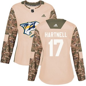 Women's Nashville Predators Scott Hartnell Adidas Authentic Veterans Day Practice Jersey - Camo