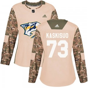 Women's Nashville Predators Kasimir Kaskisuo Adidas Authentic Veterans Day Practice Jersey - Camo