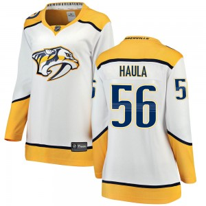 Women's Nashville Predators Erik Haula Fanatics Branded Breakaway Away Jersey - White