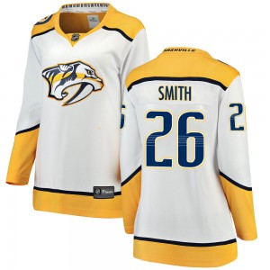 Women's Nashville Predators Cole Smith Fanatics Branded ized Breakaway Away Jersey - White