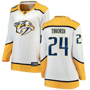 Women's Nashville Predators Jarred Tinordi Fanatics Branded Breakaway Away Jersey - White