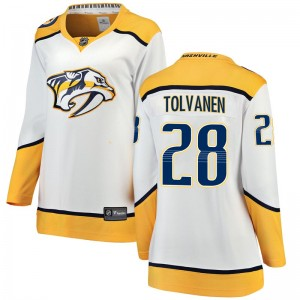 Women's Nashville Predators Eeli Tolvanen Fanatics Branded Breakaway Away Jersey - White