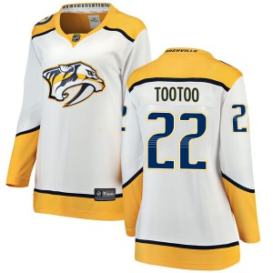 Women's Nashville Predators Jordin Tootoo Fanatics Branded Breakaway Away Jersey - White