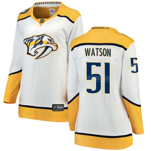 Women's Nashville Predators Austin Watson Fanatics Branded Breakaway Away Jersey - White