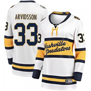 Women's Nashville Predators Viktor Arvidsson Fanatics Branded 2020 Winter Classic Breakaway Jersey - White