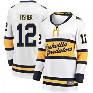 Women's Nashville Predators Mike Fisher Fanatics Branded 2020 Winter Classic Breakaway Jersey - White