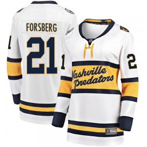 Women's Nashville Predators Peter Forsberg Fanatics Branded 2020 Winter Classic Breakaway Jersey - White