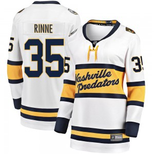 Women's Nashville Predators Pekka Rinne Fanatics Branded 2020 Winter Classic Breakaway Jersey - White