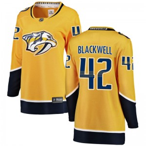Women's Nashville Predators Colin Blackwell Fanatics Branded Breakaway Home Jersey - Yellow