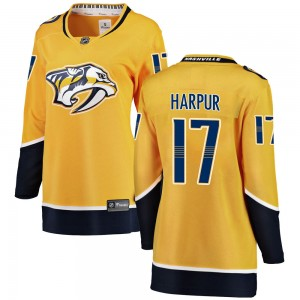Women's Nashville Predators Ben Harpur Fanatics Branded Breakaway Home Jersey - Yellow
