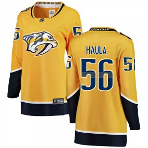 Women's Nashville Predators Erik Haula Fanatics Branded Breakaway Home Jersey - Yellow