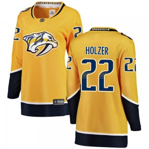 Women's Nashville Predators Korbinian Holzer Fanatics Branded ized Breakaway Home Jersey - Yellow