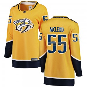 Women's Nashville Predators Cody Mcleod Fanatics Branded Cody McLeod Breakaway Home Jersey - Yellow