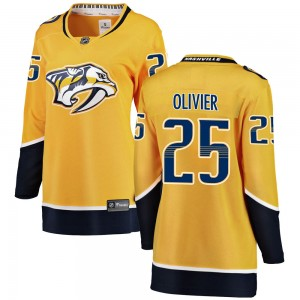 Women's Nashville Predators Mathieu Olivier Fanatics Branded Breakaway Home Jersey - Yellow