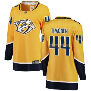 Women's Nashville Predators Kimmo Timonen Fanatics Branded Breakaway Home Jersey - Yellow