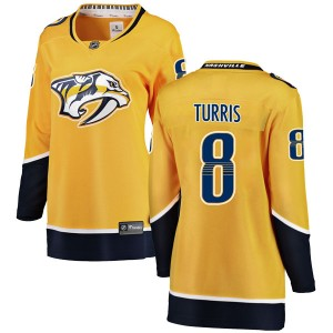 Women's Nashville Predators Kyle Turris Fanatics Branded Breakaway Home Jersey - Yellow