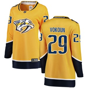 Women's Nashville Predators Tomas Vokoun Fanatics Branded Breakaway Home Jersey - Yellow