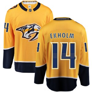 Youth Nashville Predators Mattias Ekholm Fanatics Branded Home Breakaway Jersey - Yellow