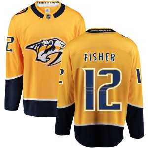 Men's Nashville Predators Mike Fisher Fanatics Branded Home Breakaway Jersey - Yellow