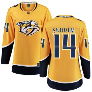 Women's Nashville Predators Mattias Ekholm Fanatics Branded Home Breakaway Jersey - Yellow