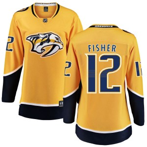 Women's Nashville Predators Mike Fisher Fanatics Branded Home Breakaway Jersey - Yellow