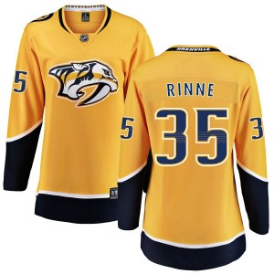 Women's Nashville Predators Pekka Rinne Fanatics Branded Home Breakaway Jersey - Yellow