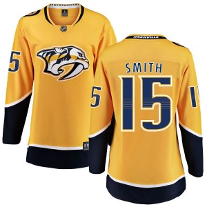 Women's Nashville Predators Craig Smith Fanatics Branded Home Breakaway Jersey - Yellow