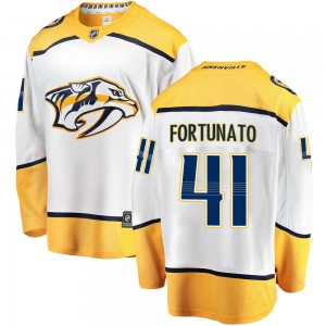 Youth Nashville Predators Brandon Fortunato Fanatics Branded Breakaway Away Jersey - White