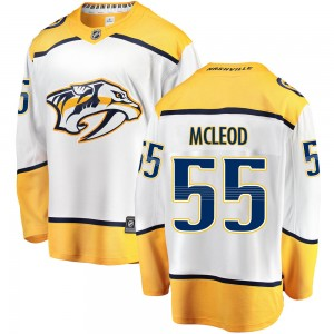 Youth Nashville Predators Cody Mcleod Fanatics Branded Cody McLeod Breakaway Away Jersey - White