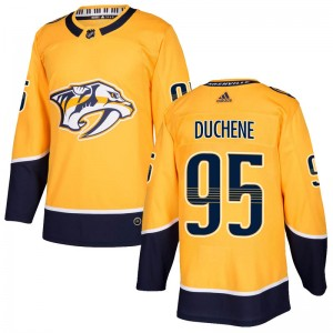 Youth Nashville Predators Matt Duchene Adidas Authentic Home Jersey - Gold