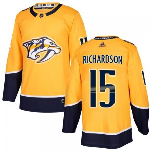 Youth Nashville Predators Brad Richardson Adidas Authentic Home Jersey - Gold