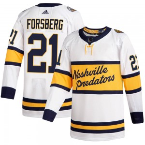 Men's Nashville Predators Peter Forsberg Adidas Authentic 2020 Winter Classic Jersey - White