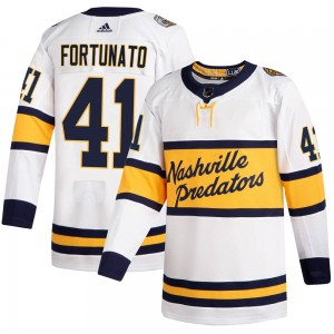 Men's Nashville Predators Brandon Fortunato Adidas Authentic 2020 Winter Classic Player Jersey - White