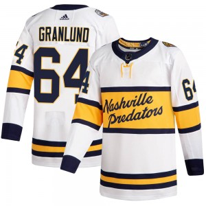 Men's Nashville Predators Mikael Granlund Adidas Authentic 2020 Winter Classic Jersey - White